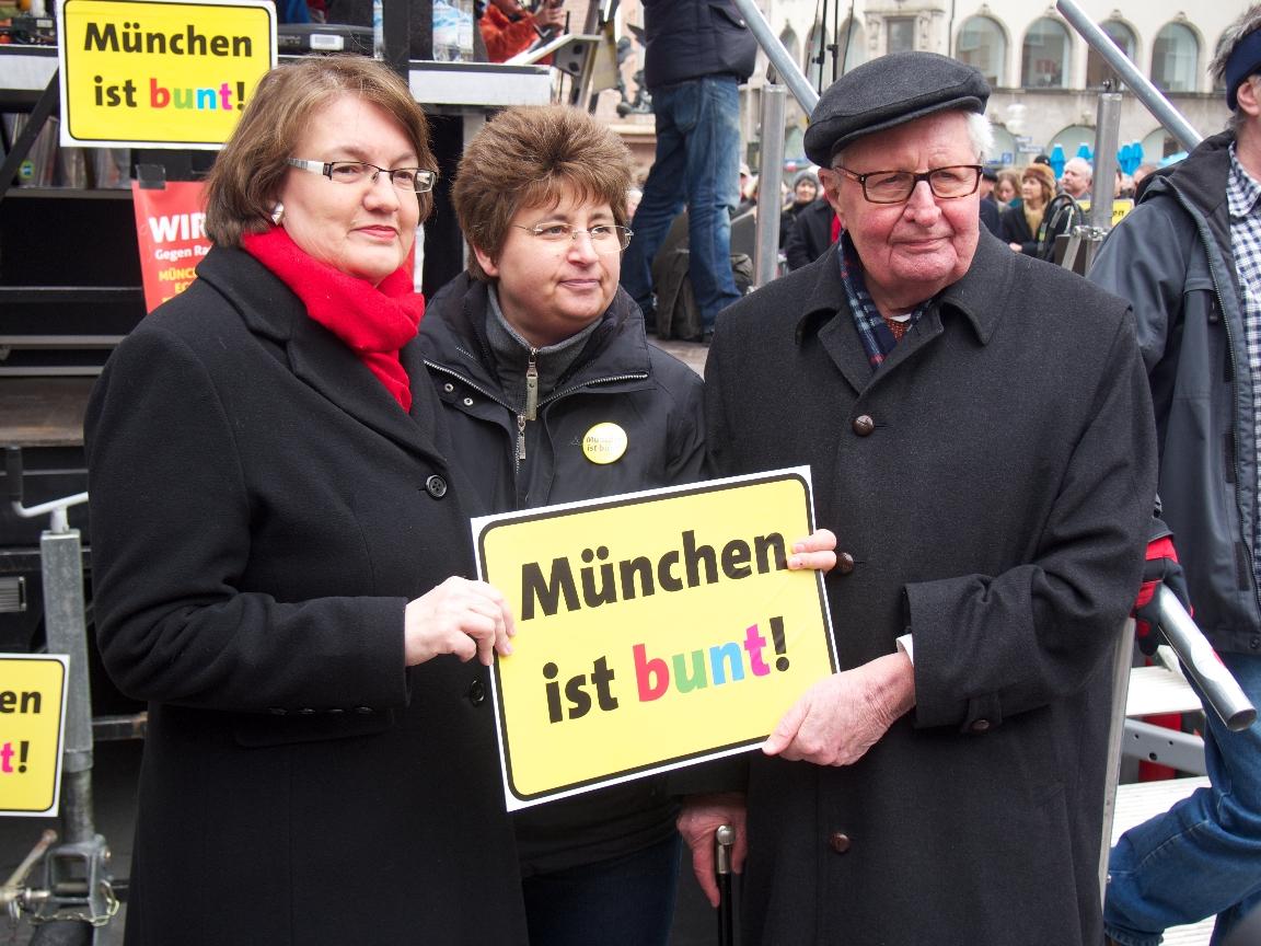 Christine Strobl, Micky Wenngatz, Dr. Hans-Jochen Vogel - Foto: Stefan Lorenz