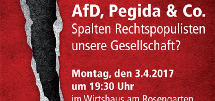 PlakatPodiumsdiskussion am 3.4. - 19.30 Uhr, Wirtshaus am Rosengarten (Westpark)