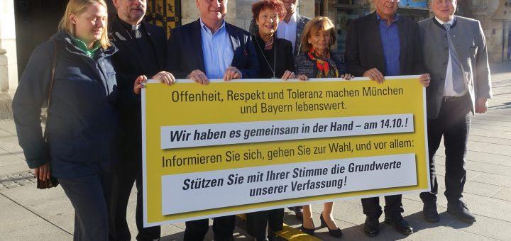 Mitglieder des Bündnisses für Toleranz der Oberbürgermeisters