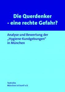 Buch Cover - Die Querdenker - eine rechte Gefahr